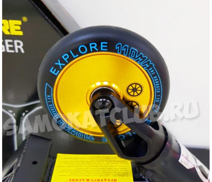 Трюковой самокат Explore Booger 110 Black/Yellow (2019)