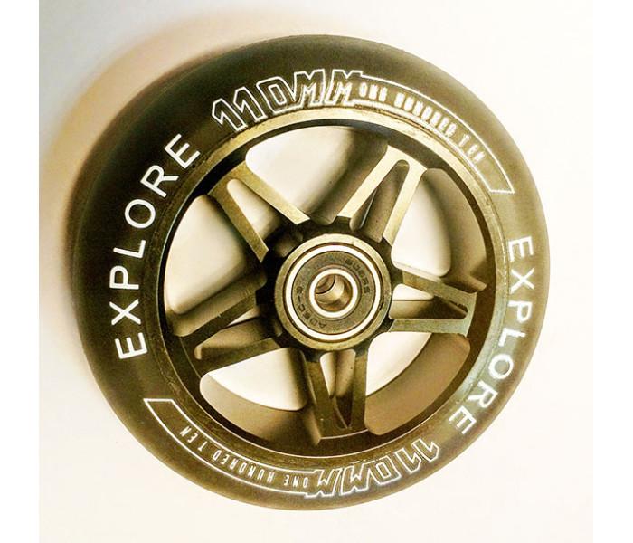 Колесо Explore 110мм для трюкового самоката (металл)