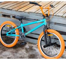 """Трюковой велосипед Tech Team BMX Goof 20"""" (сине-оранжевый) для начинающих"""