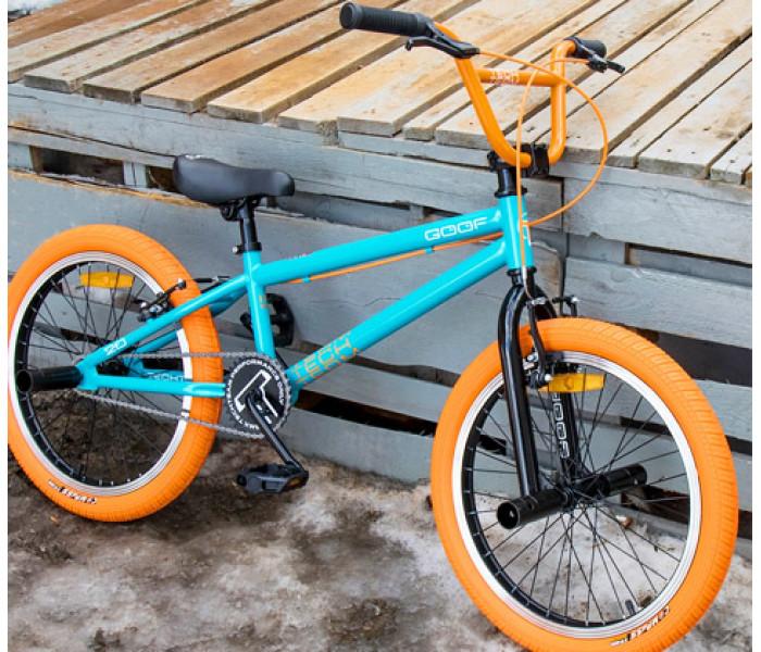 """Велосипед Tech Team TT BMX GOOF 2020г рама 18,7"""" бирюзово-оранжевый"""