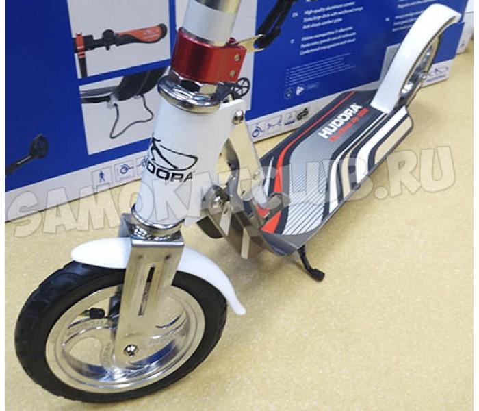 Самокат HUDORA Big Wheel AIR 205 (бело-красный)