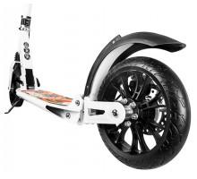 Cамокат Hello Wood  HW Racer Lux с ручным дисковым тормозом (белый)
