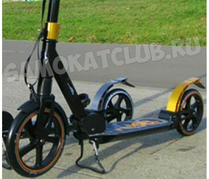 Самокат HW Mersedes MSD 230 Золотой (Мерседес) с большими колесами