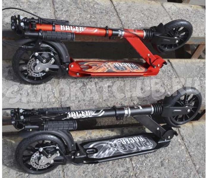Самокат Hello Wood  HW Racer Lux с  амортизаторами