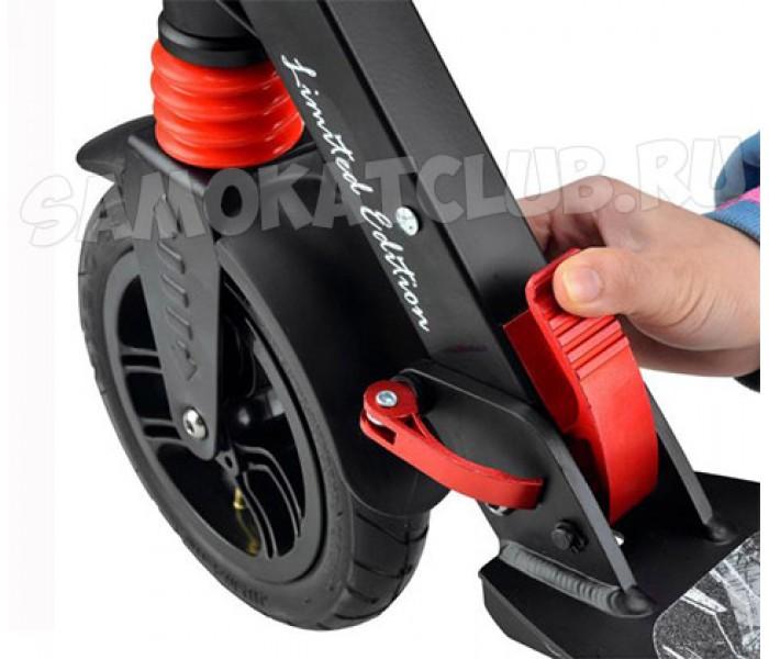 Cамокат HW RACER MAX LE 2018 с ручным тормозом (черный)