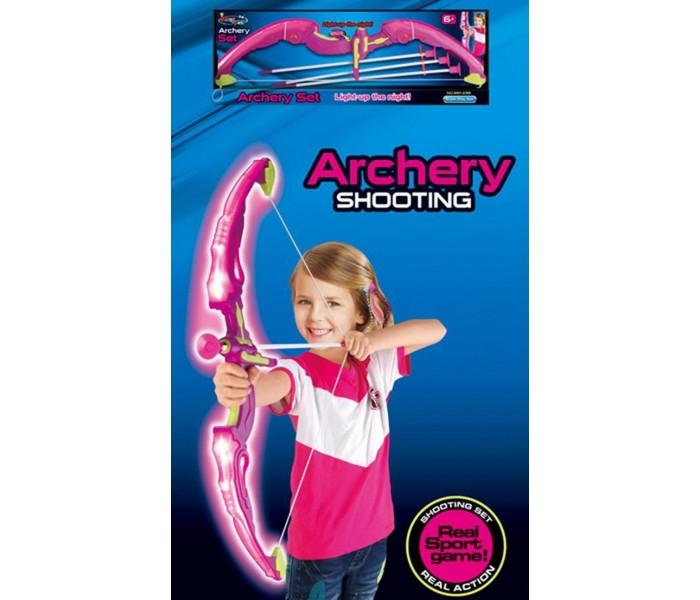 Игрушечный лук с подсветкой и стрелами King Sport для девчонок