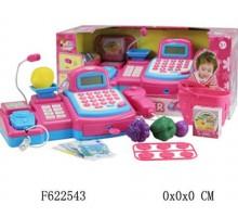 Касса игрушечная с микрофоном и сканером + продукты