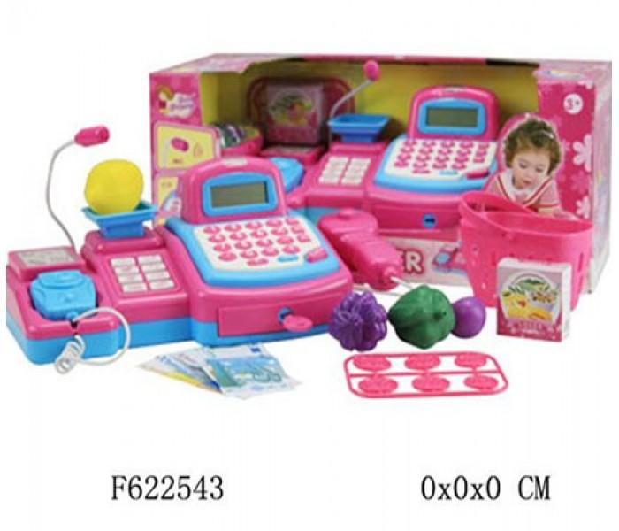 Детская игрушечная касса с микрофоном и сканером