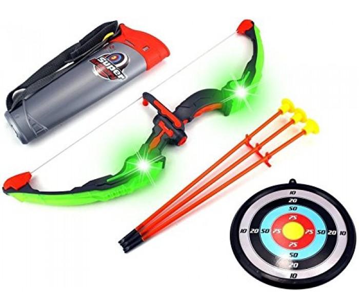 Игрушечный лук с подсветкой и стрелами King Sport  для детей
