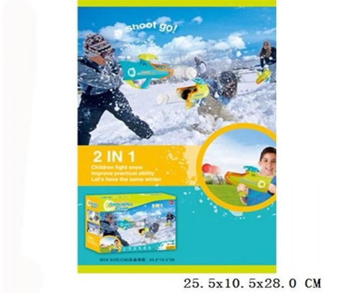 Бластер для снежков и шариков 2в1