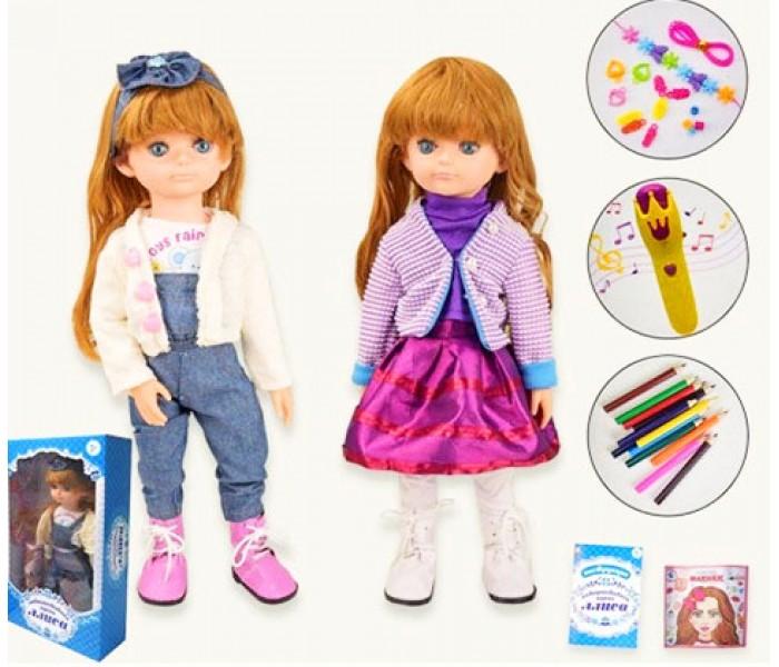 Кукла Алиса 50см интерактивная с мимикой и аксессуарами Tongde MY009-8