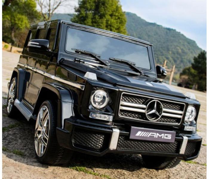 Электромобиль Mercedes-Benz G55 AMG с ключом зажигания и резиновыми колёсами