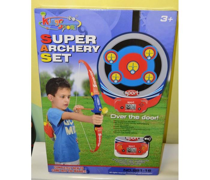 Игрушечный лук со стрелами для детей King Sport + электронная мишень