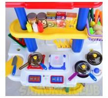 Большая игрушечная кухня ZHIBO 65 предметов. Свет,звук