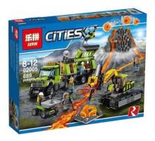 Конструктор LEPIN 02005 City База исследователей вулканов (копия Lego Сити) 60124