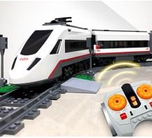 Конструктор LEPIN 02010 Скоростной пассажирский поезд - аналог Lego 60051