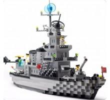 """Конструктор """"Военный линкор"""" 970 деталей Brick-112"""