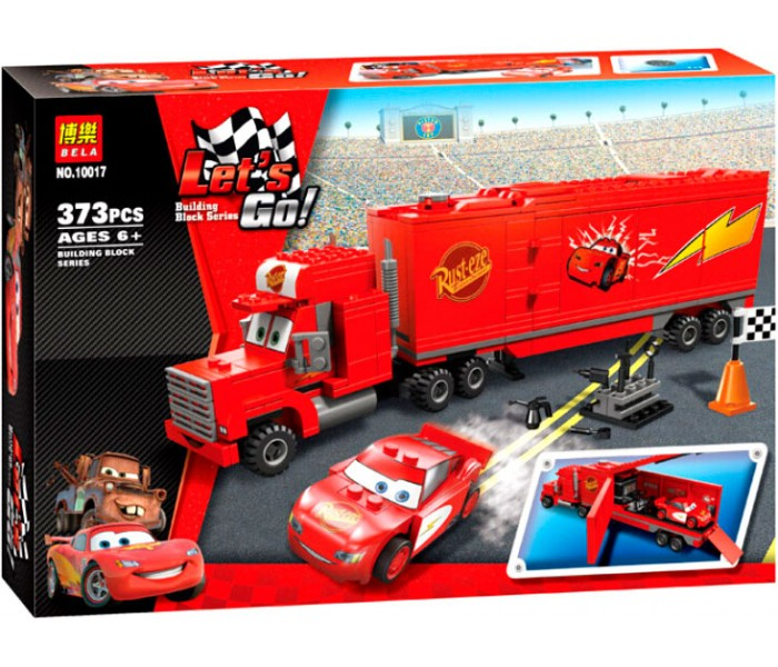 Конструктор Bela Let's Go Трейлер Мака 10017 (Аналог Lego Cars 8486) 373 дет