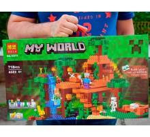Конструктор Bela 10471 Домик на дереве в джунглях (аналог Lego Minecraft 21125) 718 деталей