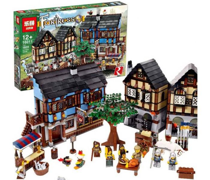 Конструктор Lepin 16011 - аналог Lego 10193 Castle Средневековый рынок (1601 деталь)