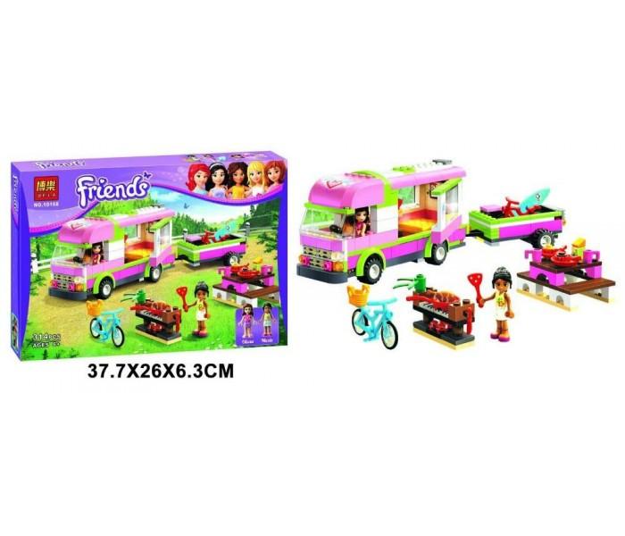 Конструктор Bela Friends Эмма и трейлер для её лошадки 10161 (Аналог Lego Friends 3186) 217 деталей