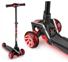 Самокат с ревом мотора, свет.колесами, свет.платформой Small Rider Premium Pro 2 (красный)