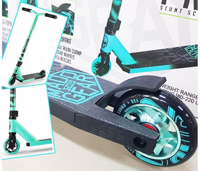 Трюковый самокат Madd Gear Kick Pro изумрудный