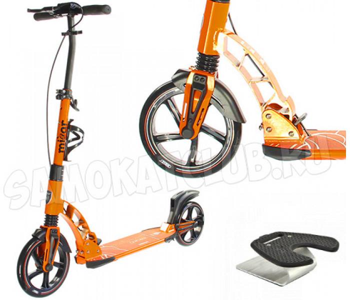 Cамокат для взрослых Micar Quicker K5 230 черно-оранжевый