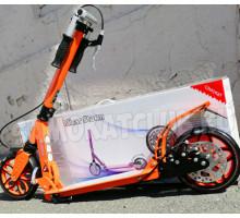 Micar Storm 200 Orange самокат с ручным дисковым тормозом и амортизаторами