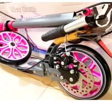 Micar Storm 200 Pink самокат с ручным дисковым тормозом и амортизаторами
