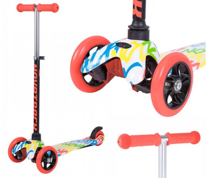 Детский трехколесный самокат Novatrack DiscoKids Mini
