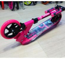 Novatrack Jungle 145 мм розовый самокат для девочек от 5 лет