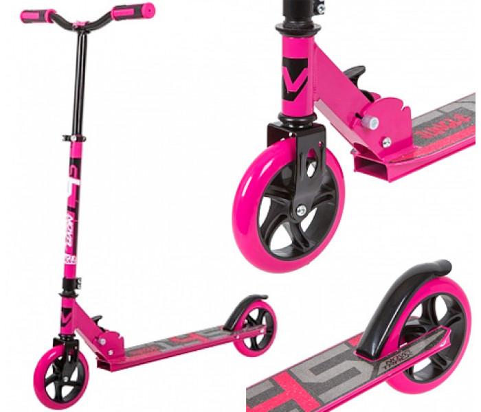 Складной самокат для девочек Jungle 145 мм розовый