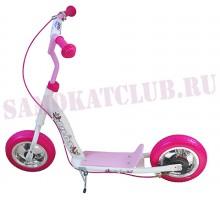 """Детский самокат Olimp PILOT S 10"""" с резиновыми колесами (розовый)"""