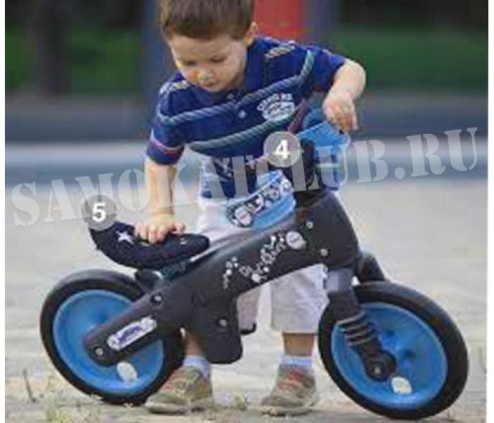 BELLELLI Беговел детский B-BIP, цвет: чёрно-синий