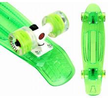 """Круизёр Playshion Firefly 22"""" со светящимися колесами зеленый"""