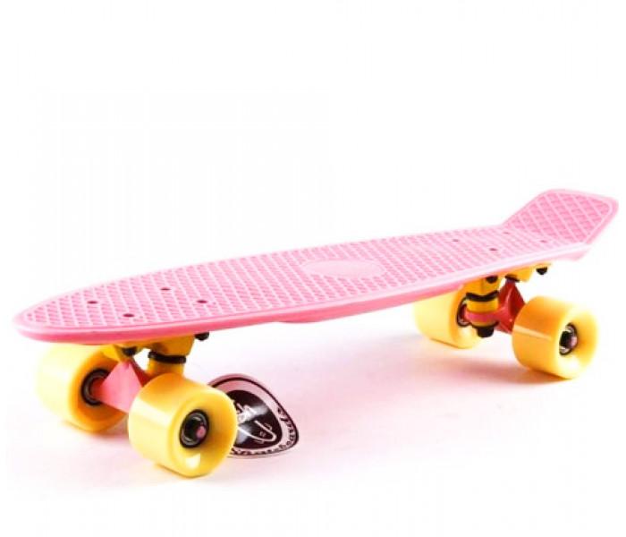 """Мини круизер 22"""" Fish Skateboards пастельный (розовый)"""