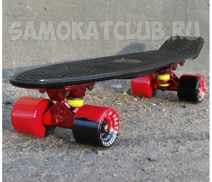 Скейт Fish Skateboards BLACK METALL 22дюйма. Эксклюзивная серия