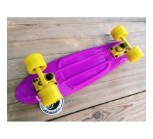 Пластборд FISH фиолетовый с желтыми колесами