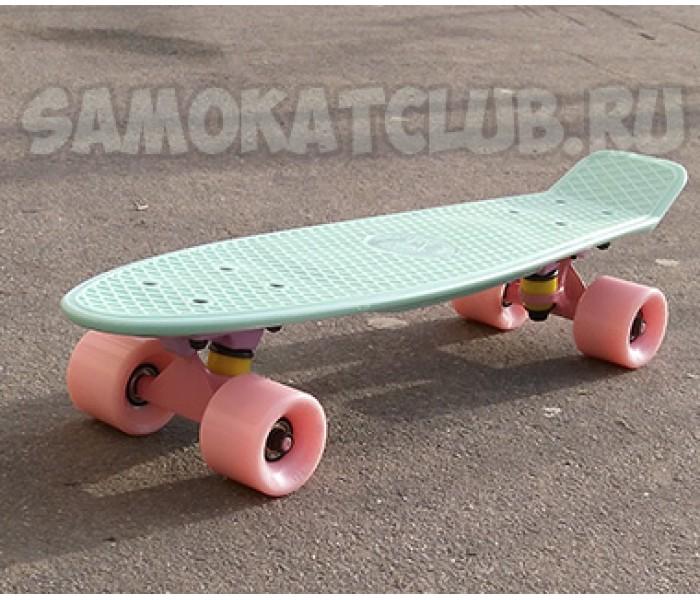 "Скейт 22"" минтоловый MINT Фишборд для девушек"