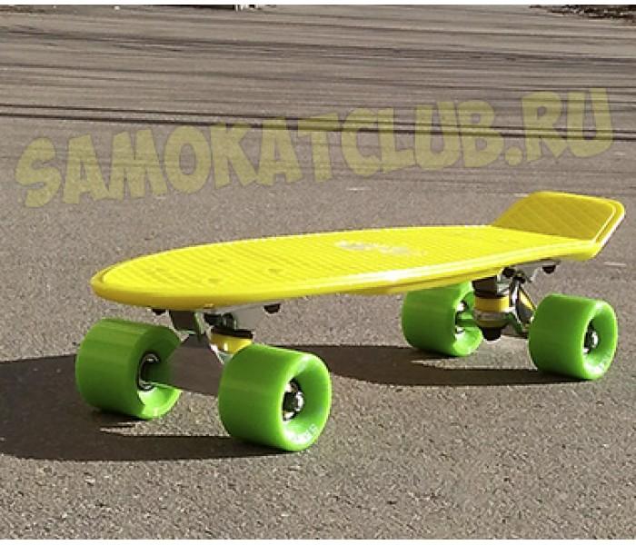 Мини круизер FISHSkateboard цвет желтый