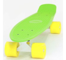 """Пластборд 22"""" FISH зеленый с желтыми колесами"""