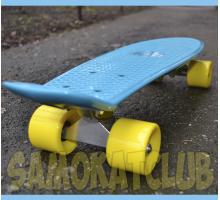 Fish SkateBoards. Мини круизер цвета морской волны