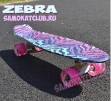 Мини-борд Fish ZEBRA розовый для девочек