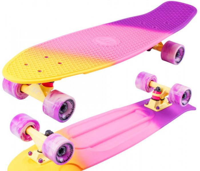 """Скейт TT TRICOLOR 27"""" розовый + мини рюкзак"""