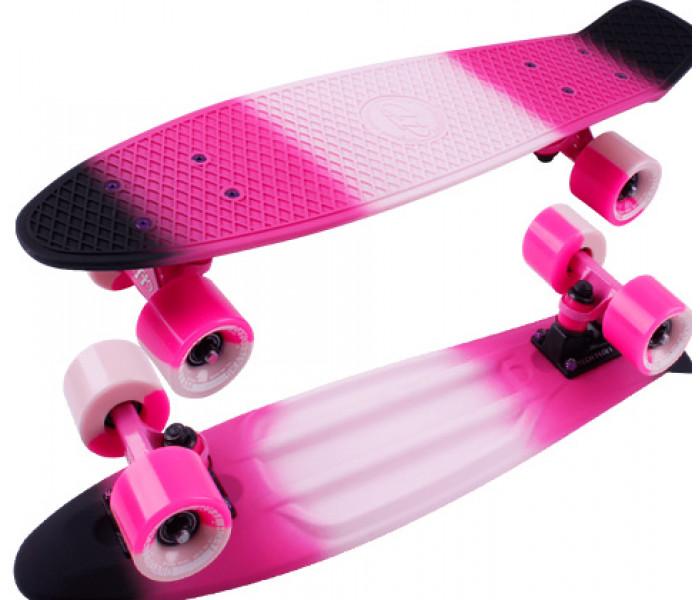 """Скейт TT MULTICOLOR 22"""" черно-розовый"""