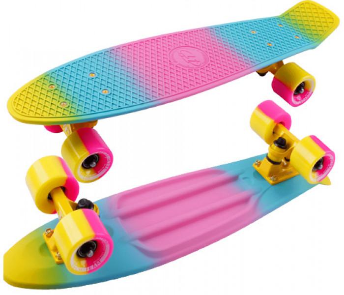 "Скейт TT MULTICOLOR 22"" розовый"