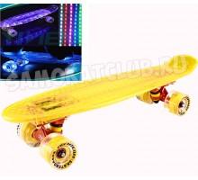 """Круизер Tech Team TT Transparent 22"""" Light светящийся желтый"""