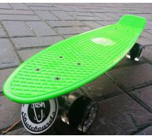 """Fish SkateBoards Green Led мини-круизер 22"""""""