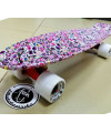 "Скейт Fish Skateboards 22"" розовый с рисунком"